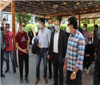وزير الرياضة يتفقد مركز شباب الجزيرة بعد عودة النشاط
