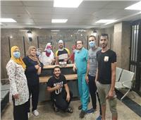 مستشفى قها للحجر الصحي تودع الفريق الطبي السابع بعد انتهاء عمله