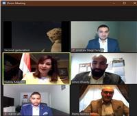 وزيرة الهجرة تلتقي مجموعة من أبناء المصريين بالخارج عبر تطبيق «زووم»