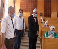 صور| رئيس جامعة المنوفية يتابع انتظام امتحانات الفصل الدراسي الثاني