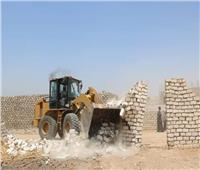 إزالة حالات تعدِ على أراضي أملاك الدولة والرقعة الزراعية بقنا