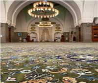 صور| الشؤون الإسلامية السعودية تنهي فرش مسجد قباء