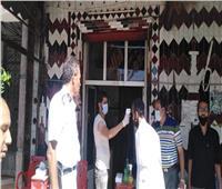 صور|غلق 25 مقهى ومحل مخالف لإجراءات التشغيل الجزئي بالإسكندرية