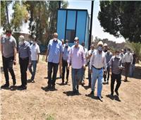 محافظ أسيوط يتفقد محطة مياه منفلوط المرشحة ومحطة مياه الحواتكة