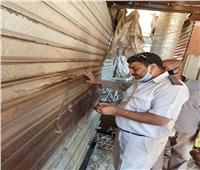 غلق وتشميع 27 محلا مخالفا في حملات بالجيزة