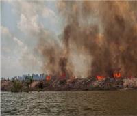 مقتل 4 أشخاص وتدمير 110 منازل في حريق غابات بشرق أوكرانيا
