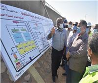 محافظ أسيوط يتفقد محطة معالجة الصرف الصحي منفلوط