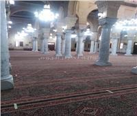 صور| أوقاف القاهرة: تعقيم مصلى السيدات بمسجد السيدة زينب