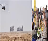 """وزير الدفاع يشهد المرحلة الرئيسية للمناورة """"حسم 2020"""" في الاتجاه الإستراتيجي الغربي"""