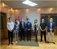 صبحي يشهد الجلسة الافتتاحية للملتقى الدولي الأول للتسويق والاستثمار الرياضي