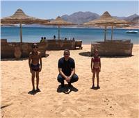 صور| وزير السياحة والآثار في زيارة لمدينتي دهب ونويبع