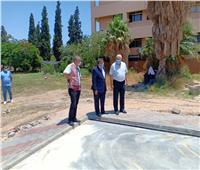 رئيس جامعة السادات يتفقد مشروع إنشاء أول ملعب للإكرليك