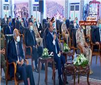 فيديو|الرئيس السيسي: الدولة المصرية بكل ظروفها الصعبة تقف بجانب أهلها