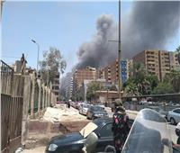صور .. تفاصيل حريق سوق توشكى بمنطقة حلوان