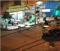 أمسك مخالفة| مقاهي ترعة الشابوري تخالف قرار مجلس الوزراء