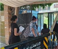 توافد طلاب مدرسة جمال عبد الناصر بالمهندسين على لجان الثانوية العامة