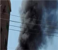 حريق ضخم بخط مازوت في طريق مصر الإسماعيلية