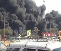 شاهد| الصور الأولى لحريق خط مازوت بطريق مصر الإسماعيلية