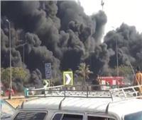 بالفيديو| لقطات حية من حريق خط مازوت «مصر - الإسماعلية» الصحراواي