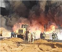 رئيس الوزراء و٥ مسئولين يتابعون عمليات إطفاء حريق طريق الإسماعيلية