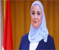 وزيرة التضامن توجه فرق طبية لإنقاذ مصابي حريق خط الغاز