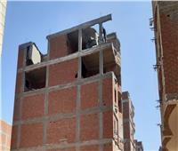 إزالة طابقين مخالفين بأحد الأبراج السكنية بحي ثان طنطا