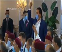 شاهد| مشايخ القبائل الليبية يهتفون: «تحيا مصر.. عاش السيسي البطل»