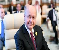 الرئيس العراقي يبحث مع وزير الخارجية الفرنسي سبل تطوير العلاقات بين البلدين