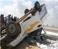 إصابة ٨ أشخاص في حادث تصادم بالطريق الصحراوي بالبحيرة