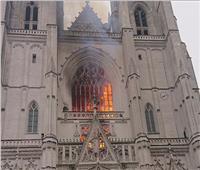 اندلاع حريق في كاتدرائية بغرب فرنسا