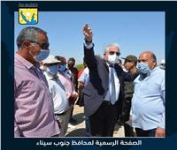 محافظ جنوب سيناء يتابع المشروعات الجارية بمدينة الطور