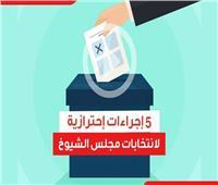 فيديوجراف| 5 إجراءات احترازية لانتخابات الشيوخ في زمن كورونا