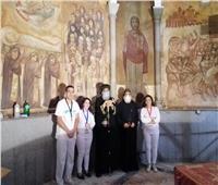 البابا تواضروس يتفقد مزار القديس مارمرقس بالكاتدرائية