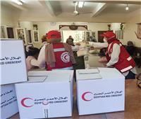 الهلال الأحمر يطلق مبادرة  مبادرة لدعم الأسرالمتضررة على مستوى الجمهورية