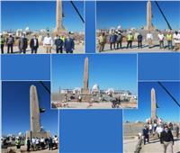 وزير السياحة والآثار يتفقد مسلة الملك رمسيس الثاني بمدينة العالمين الجديدة