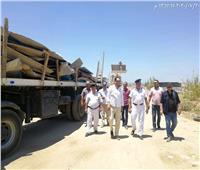 إزالة التعديات على مساحة ٦٠٨٠٠م2 «غرب كارفور» بالإسكندرية