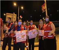 للمرة الثالثة.. الهلال الأحمر يعقم محطة مصر