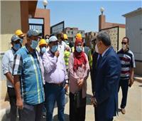 محافظ المنيا يتفقد محطة رفع صرف صحي «بان العلم»بالعدوة