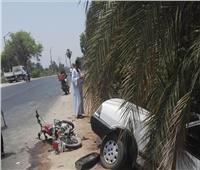 مصرع شاب وإصابة آخر في حادث بطريق الأربعين بنجع حمادي