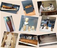 نقل 17 تابوتاُ ملكياً لمتحف الحضارة بالفسطاط| صور