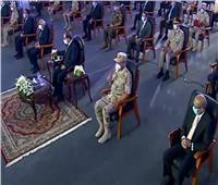 """الرئيس السيسي يشاهد فيلم """"خيوط الأمل"""" في افتتاح المدينة الصناعية بالروبيكي"""
