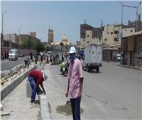 رفع كفاءة وتطوير شوارع مدينة الأقصر ونفق السكة الحديد