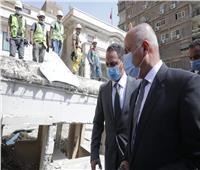 للمرة الثانية.. وزير النقل يتابع أعمال معالجة التربة لعمارة الزمالك المتضررة
