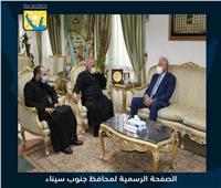 وفد الكنيسة الكاثوليكية يهنئ محافظ جنوب سيناء بعيد الأضحى