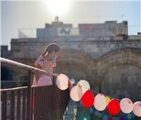 صور  تزيين باب الرحمة بالمسجد الأقصى خلال عيد الأضحى