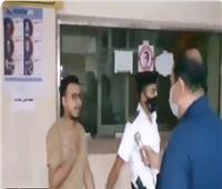 فيديو| لحظة القبض على صاحب واقعة «حرق علم الكويت»