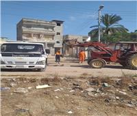 رفع 1150 طن من تراكمات القمامة وإزالة 190 اشغال بنطاق 5 مراكز بالبحيرة