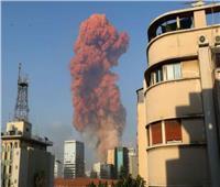 شاهد.. لحظة وقوع الانفجار المروع وسط العاصمة اللبنانية بيروت