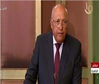 فيديو| سامح شكرى: زيارة وزير الخارجية اليونانى تطور نوعي بين البلدين