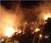 الفيديو الأول لحريق جبل مشغرة اللبناني